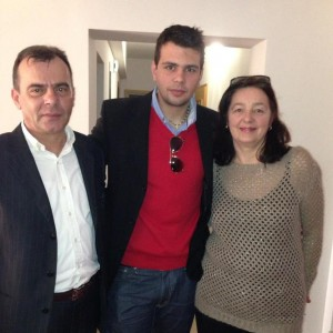 Josip with parents